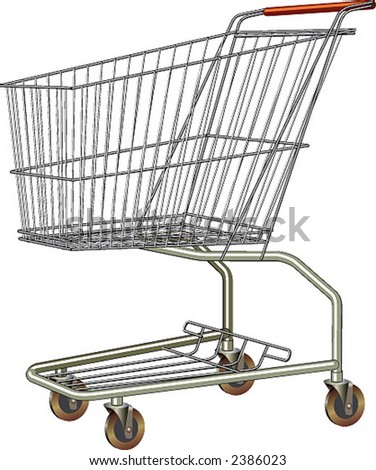 A common shopping cart. Isolated. - stock vector