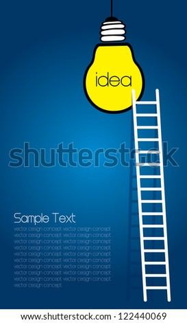 a competition concept, idea light bulb - stock vector
