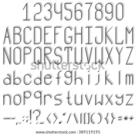 Set Sport Style Alphabet Letters Numbers Stock Vector