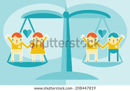 A concept for marriage equality and gay rights. - stock vector