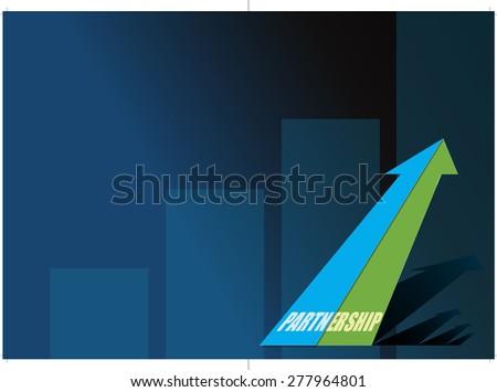 A corporate brochure design concept - Vector - stock vector
