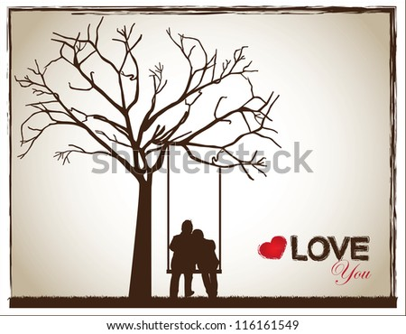 Loving Couple Sitting Swing Stock Images Royalty-Free Images U0026 Vectors | Shutterstock