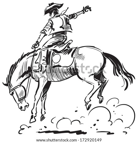 saddle bronc riding coloring pages - photo#12