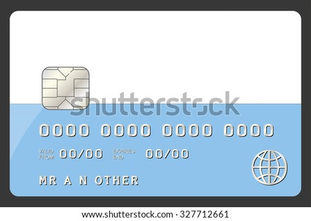 A Credit Card Illustration with the Flag of San Marino