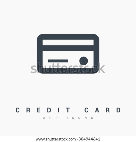 A credit card vector isolated minimal icon in black and white colors. Line vector icon for websites and mobile minimalistic flat design. Modern trend concept design style illustration symbol - stock vector
