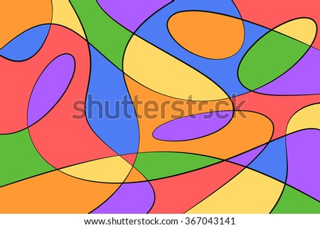 A Cubist Abstract Background with Swirling Lines - stock vector