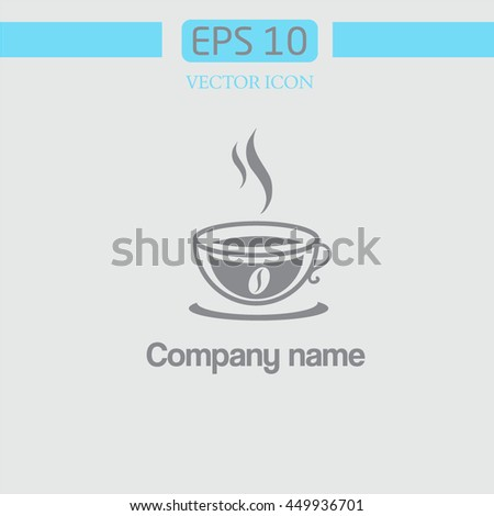a cup of coffee. flavored coffee. logo - stock vector