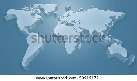3d blue world map background concept vectores en stock 509151721 a 3d blue world map background concept gumiabroncs Image collections