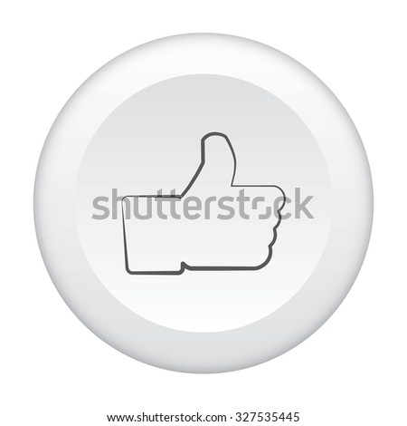 A 3D Button Icon Isolated on a White Background - Thumb