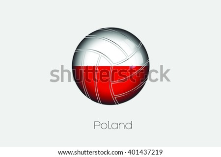 A 3D Football with a Flag Illustration of Poland - stock vector