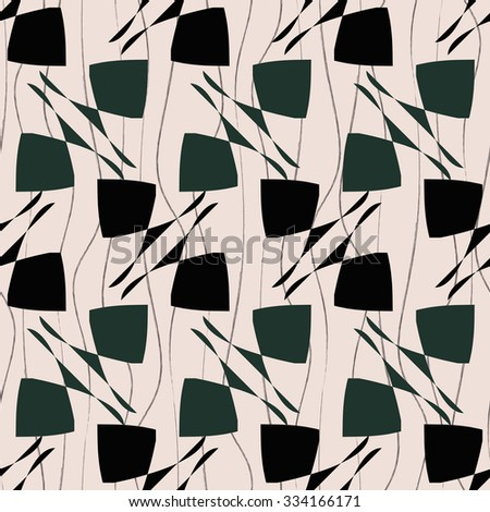 A decorative element in a diagonal pattern, curve, diamond, seamless vector background. - stock vector