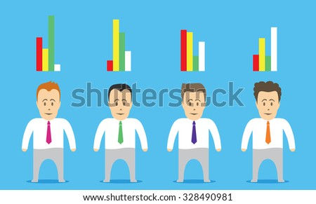 A detailed examination of the applicant. Vector illustration.