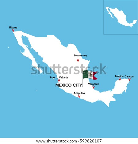 detailed map mexico indexes major cities stock vector hd royalty free 599820107 shutterstock