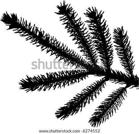 a detailed vector backgroung of Christmas pine needles - stock vector