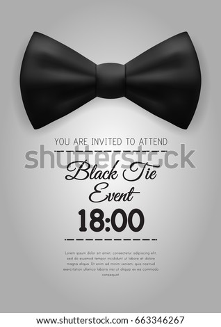 A 4 elegant black tie event invitation stock vector 663346267 a 4 elegant black tie event invitation stock vector 663346267 shutterstock stopboris