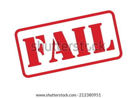A 'Fail' Stamp vector over a white background. - stock vector