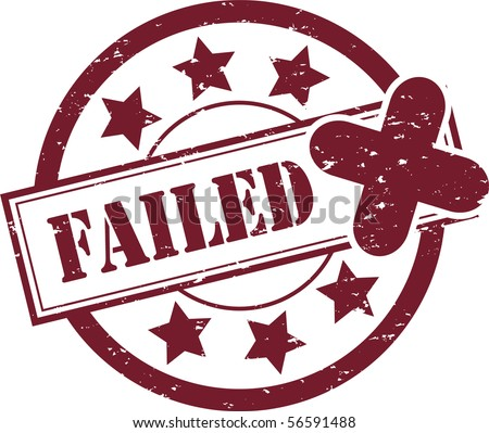 A 'Failed' Rubber Stamp Vector Illustration - stock vector