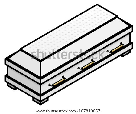 fancy white coffincasket stock photo photo vector illustration rh shutterstock com Death Clip Art casket clip art free