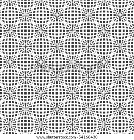 A fine, black and white, vector pattern - stock vector