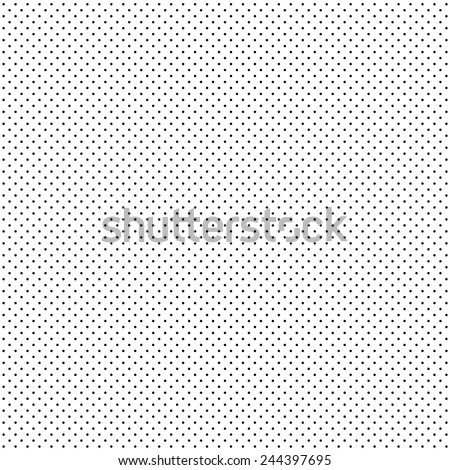 A fine dotted texture- black and white vector pattern - stock vector