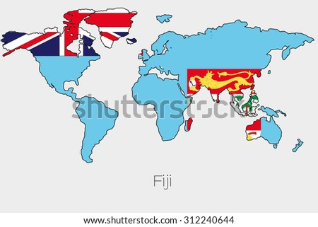 Flag illustration inside shape world map stock vector 2018 a flag illustration inside the shape of a world map of the country of fiji gumiabroncs Gallery