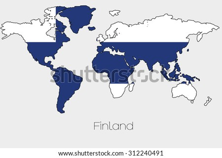 Flag illustration inside shape world map stock vector 312240491 a flag illustration inside the shape of a world map of the country of finland publicscrutiny Images
