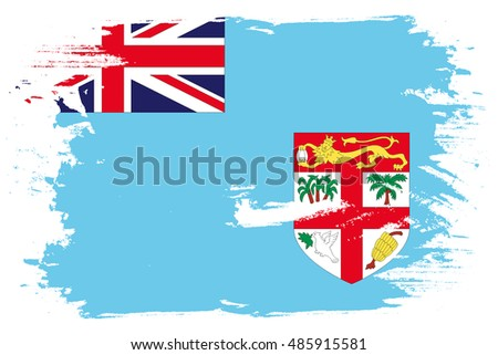 A Flag Illustration of the country of Fiji