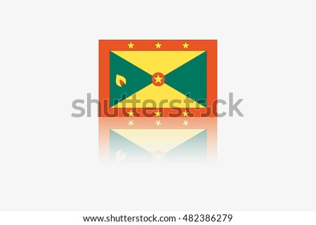 A Flag Illustration of the country of Grenada