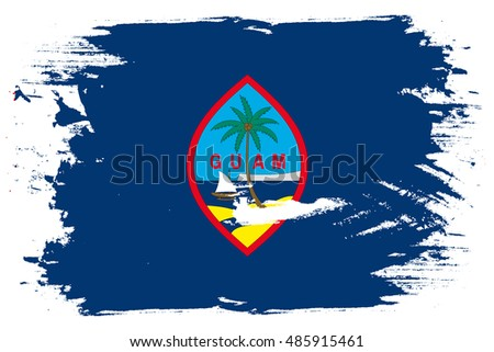A Flag Illustration of the country of Guam