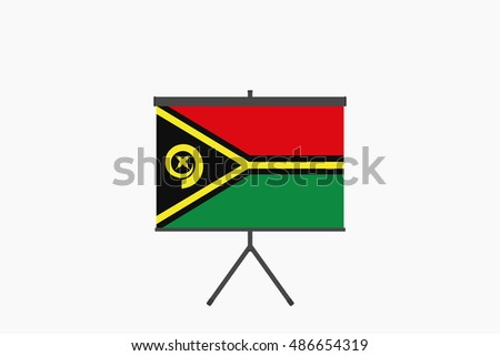 A Flag Illustration of the country of Vanuatu