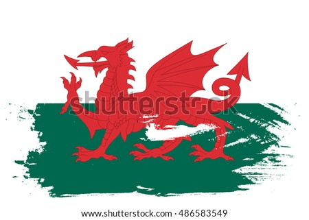 A Flag Illustration of the country of Wales