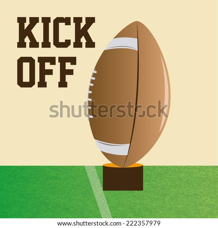 a football ball ready to be kicked on the field - stock vector