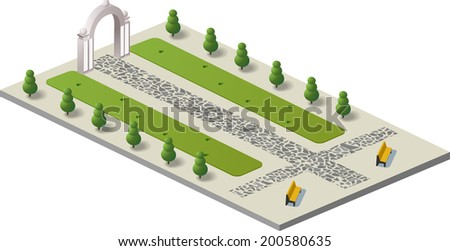 A fragment of the urban architecture - stock vector