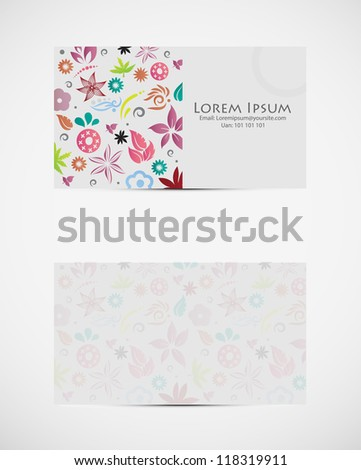 A fresh funky visiting card, can be used professionally. (Vector Eps10) - stock vector