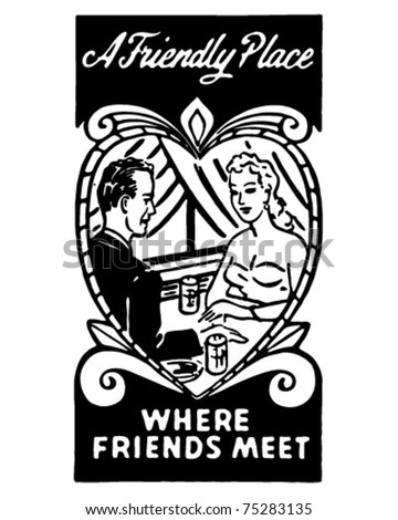 A Friendly Place 2 - Retro Ad Art Banner