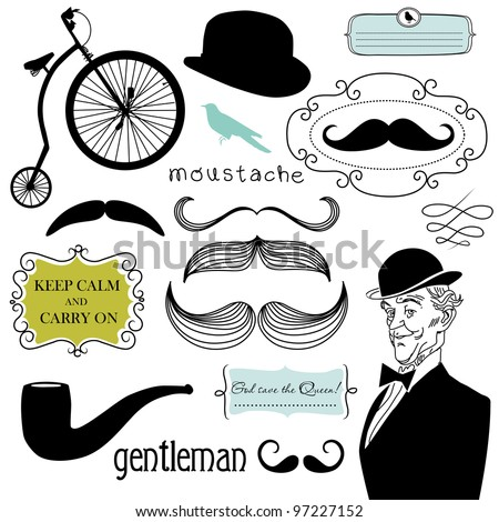 A Gentlemen's Club - stock vector