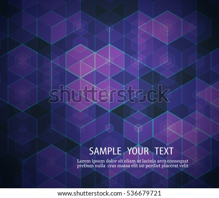 A geometric design of hexagons Abstract background Element of your design