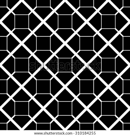 A geometric linear pattern, square, rhombus, seamless vector background.