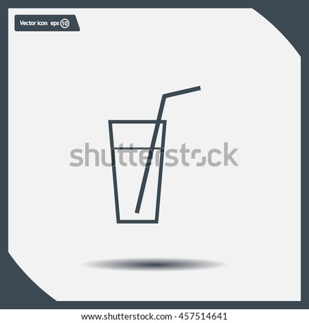 A glass with a straw icon