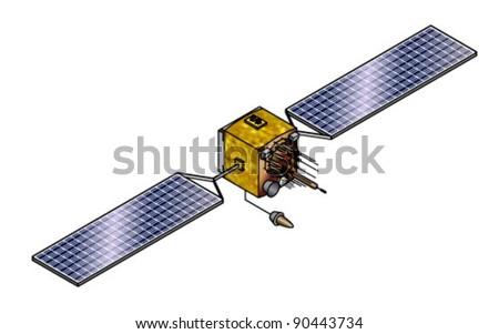 A GPS satellite. - stock vector