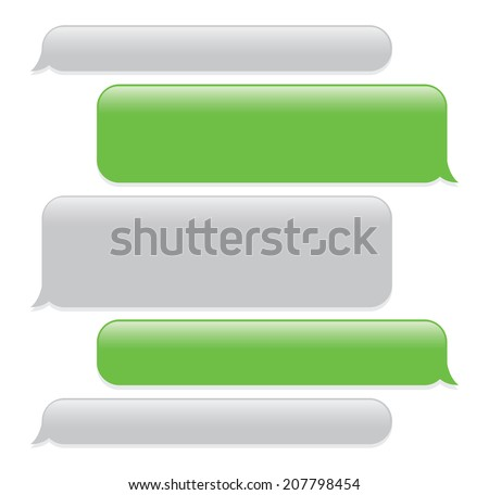 green text messages on iphone green mobile phone text messaging screen stock vector 17010