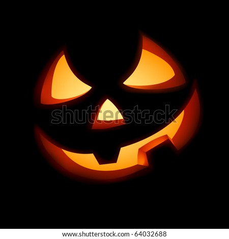 A grinning Jack O Lantern. EPS 8 vector file included - stock vector