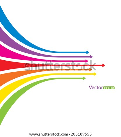 A group of arrows forward - stock vector