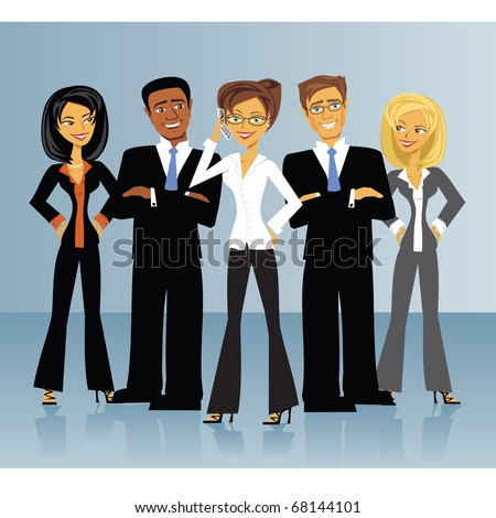 A group of business people. - stock vector