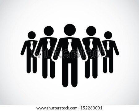 A Group Of Employee - stock vector
