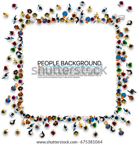 Group People Shape Frame Banner Isolated Stock Photo (Photo, Vector ...