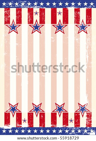 A grunge background with an american flag for a poster. Read your message - stock vector