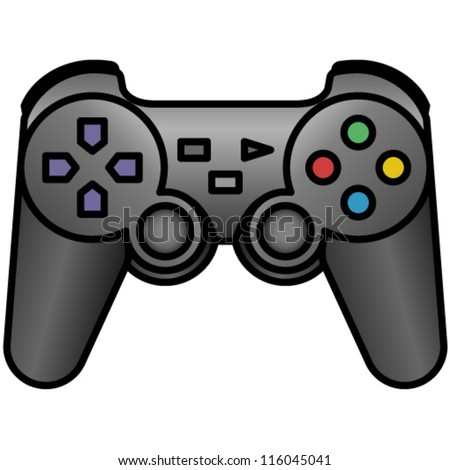 Cartoon Video Game Controller A handheld game controller pad