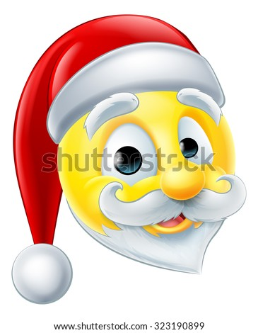 A happy Santa Claus Christmas emoji emoticon - stock vector