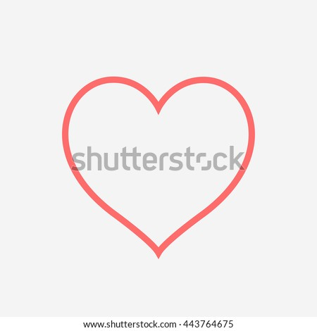 A heart in outline on grey - stock vector